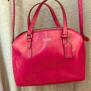 Coach Pink Cross Body Purse